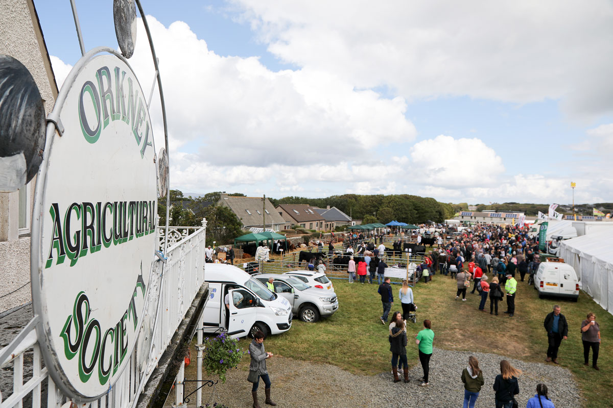 County Show - Orkney Agricultural Society sign on show day